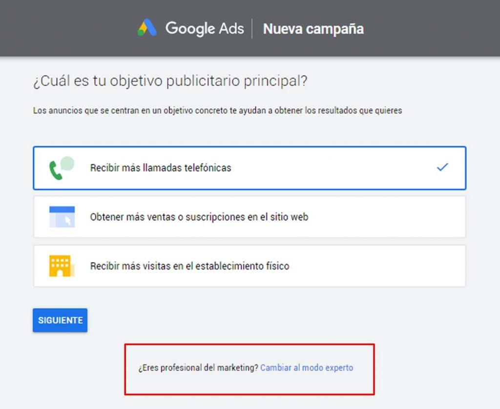 crear cuenta en google adwords